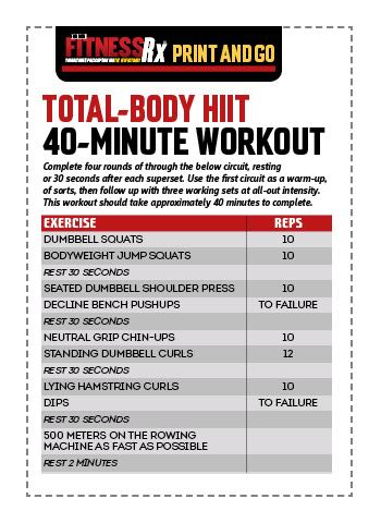 totalbody hiit workout  fitnessrx for men