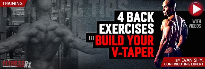 4 Back Exercises To Build Your V-Taper