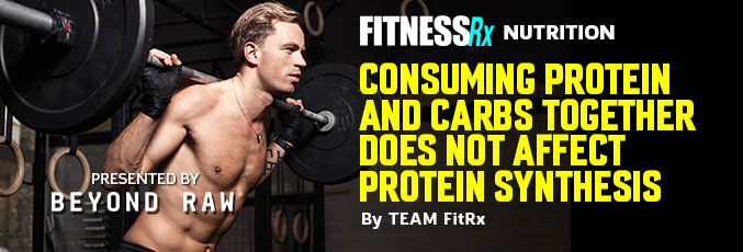 Consuming Protein and Carbs Together Does Not Affect Protein Synthesis