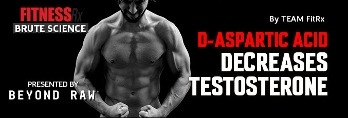 D-Aspartic Acid Decreases Testosterone