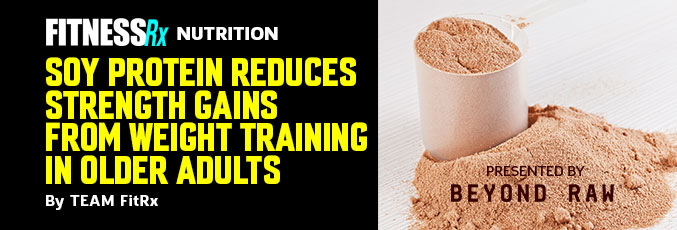 Soy Protein Reduces Strength Gains From Weight Training in Older Adults