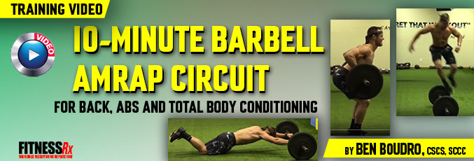 10-Minute Barbell AMRAP Circuit