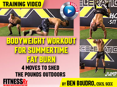 bodyweight workout for summertime fat burn  fitnessrx for men