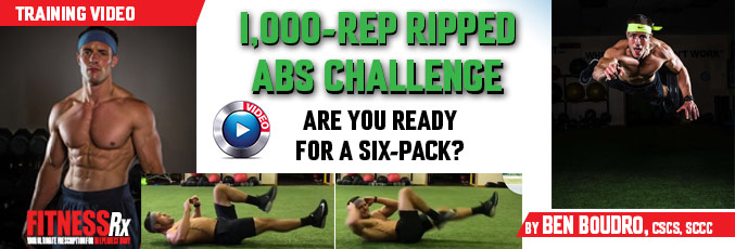 1,000-Rep Ripped Abs Challenge