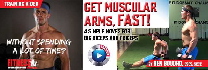 Get Muscular Arms, Fast