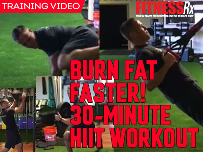 burn fat faster 30minute hiit workout  fitnessrx for men